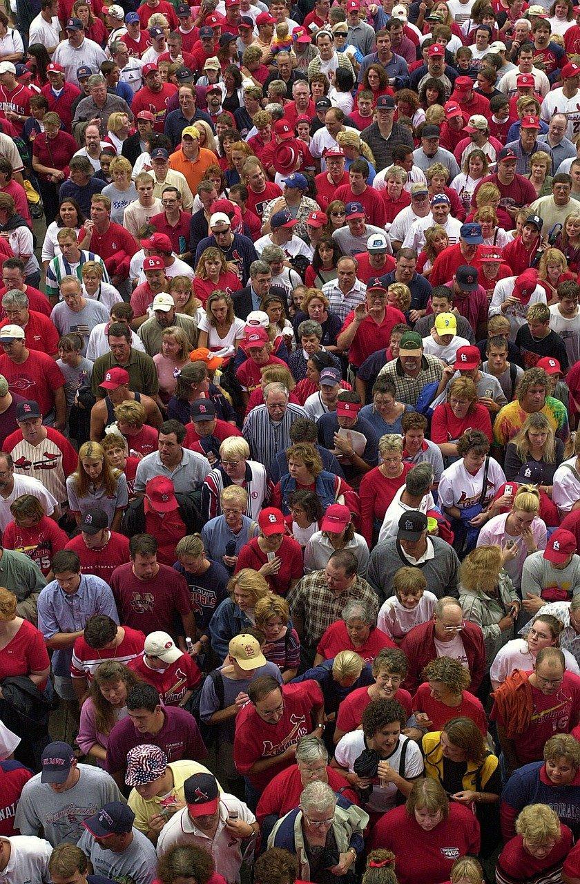 Zielgruppe Menschenmenge